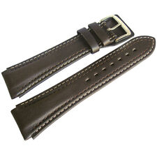 20mm Di-Modell Pilot Long Brown Waterproof Leather German-Made Watch Band Strap