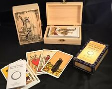 Tarot Cards Rider Waite Original NEW & SEALED &WOODEN HANDCRAFTED TAROT DECK BOX