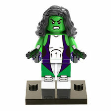 Custom She Hulk minifigure mini figure toy w Lego Sticker Marvel