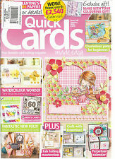 QUICK CARDS MADE EASY, JANUARY, 2016  ISSUE,148 (YOUR FAVOURITE CARD MAKING MAG