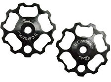 OMNI Racer Ti Ceramic Derailleur Pulleys 9/10 speed Dura Ace Ultegra XTR: BLACK