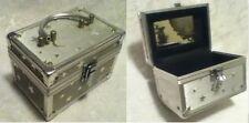 Star Crescent Moon Cosmetic Makeup Mirror Art Jewel Alum Travel Train Case Box