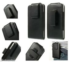 Magnetic Leather Holster Case Belt Clip rotary 360º para > WOLDER miSmart WAVE 8