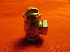 "LIVE STEAM LARGE SCALE 1/8"" 27 NPT ANGLE CHECK VALVE  - NewTrain Parts"