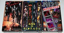KISS 3 VHS Video Tape Lot The Vintage 1974 Concert Footage Konfidential Gene Ace