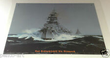Retro Vintage Bismarck Battleship Steel Decorative Wall Plaque Sign Ship Sea