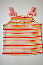 Gymboree Beach Shack Multi-Color Striped Hibiscus Flower Bow Tank Top 4T