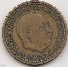 General Franco 1 peseta 1947 * 52
