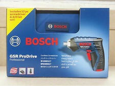 Genuine BOSCH GSR ProDrive 3.6V Li Cordless SCREWDRIVER w/Battery,Charger,Bit