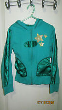 Youth Girls Small 7 Disney's High School Musical Green Full Zip Hoodie Jacket