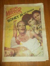 RECORD MIRROR DECEMBER 16 1978 BONEY M BOOMTOWN RATS ALICE COOPER KISS QUEEN