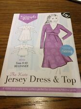 BN UNCUT SIMPLE SEW KATE JERSEY 2 in 1 DRESS & TOP 8-20