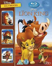 The Lion King Trilogy All 3 MOVIES 1 2 & 3 BOXSET BLU-RAY REGION Free