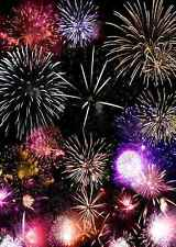 Beautiful firework 5'x7' CP Backdrop Computer printed Scenic Background XLX-179