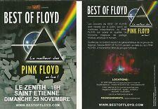 FLYER PLV - BEST OF FLOYD ( PINK FLOYD SHOW ) EN CONCERT LIVE 2015 SAINT ETIENNE