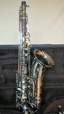 Chateau Professional Handmade Tenor Sax - Black plated body and key VCH-T800BBY2