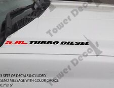5.9L TURBO DIESEL Hood sticker decals emblem vinyl 4x4 fits: dodge cummins ram