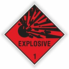 1x EXPLOSIVE RED sticker Explosion warning danger BUMPER DECAL 10x10cm=4x4""