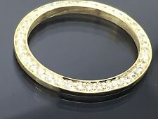 LADIES 14K GOLD DIAMOND BEZEL 1.00CT FOR ROLEX DATEJUST 69173 69178 6917 79173