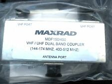 New in Package PCTEL MAXRAD MDF150/450 UHF/VHF Dual Band Coupler 144-174 406-512