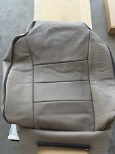 Land Rover Discovery leather frt seat back cover assembly beige OEM NEW genuine