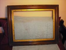 Victorian walnut large frame w/gold liner and sculpted frame