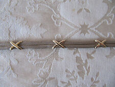 Sterling Silver and 14k Yellow Gold X Bracelet~Stunning!