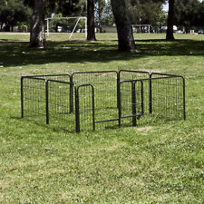 8 Panel Heavy Duty Cage Barrier Pet Dog Cat Fence Puppy Metal Play Pen Kennel