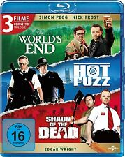 THE WORLD'S END + HOT FUZZ + SHAUN OF THE DEAD (3 Blu-ray Discs) NEU+OVP