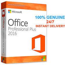 Original office professionnel plus 2016 clé de licence genuin 32/64BIT scrap pc