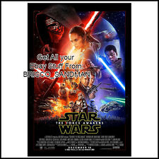 Fridge Fun Refrigerator Magnet STAR WARS THE FORCE AWAKENS MOVIE POSTER -A-