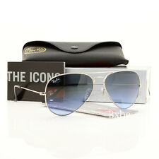 NEW AUTHENTIC RAY BAN AVIATOR RB3025 003/3F 58MM BLUE GRADIENT LENS SILVER FRAME
