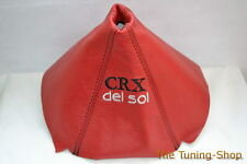FITS HONDA CIVIC DEL SOL CRX 1993-1997 RED LEATHER SHIFT BOOT EMBROIDERY NEW
