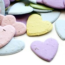 Pastel Mix Heart Shaped Wildflower Seed Recycled Paper Eco Plantable Confetti