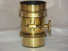 BRASS PHOTO/PROJECTION LENS 135 mm - PETZVAL FORMULA  .