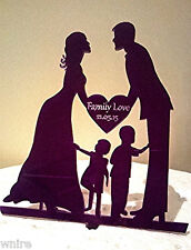 NEW Our stunning silhouette Bride & Groom FAMILY LOVE Wedding cake Toppers