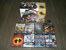 Gamecube Mario Party 7 Bonus Set CIB w/ 9 gms! Simpsons Hit & Run! console