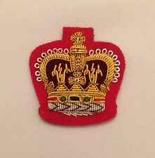 WO2 Crown Red, Warrant Officer, Army, Military, Mess Dress, Rank Badge, Reds