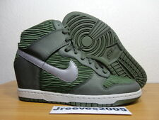 Women's Nike Dunk Sky HI CARBON GREEN Sz 10.5 100% Authentic Wedge 528899 302