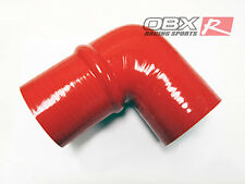 "OBX 90 Degree Silicone Coupler Hump Elbow 2.0""-2.0"" Red Hose"
