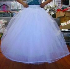 Neu Lager Weiß TÜLLROCK Petticoat 3-lagig ohne Ring Unterrock Reifrock Hoopless