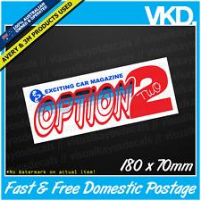 Option 2 Sticker/ Decal - JDM DRIFT CLUB JAPAN TURBO VINYL MAGAZINE SPARKLE RARE