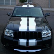1 Sticker Decal Stripe Kit for Jeep Grand Cherokee SRT8 Light Mirror Hood Bumper