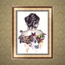 Butterfly Beauty Lady DIY 5D Diamond Embroidery Painting Cross Stitch Home Decor