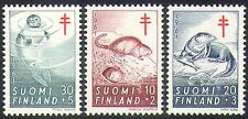 Finland 1961 Tuberculosis Fund/Medical/Health/Seal/Otter/Animals 3v set (n41004)