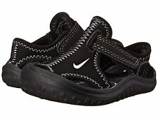 New Nike Sunray Protect Water Sandals Black/White/Dark Grey Little Boys Size  9