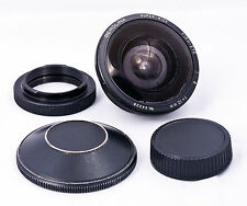 Berolina 12mm f8 super-wide circular fish-eye lens in T2 mount PK adapter