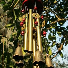 Hot 4 Tubes 5 Bells Bronze Yard Garden Outdoor Living Wind Chimes