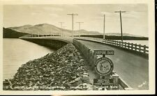 SANDPOINT,IDAHO-WORLD'S LONGEST ALL WOODEN BRIDGE--RPPC-(RP#1-1000)