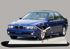 MODEL CARS, BMW 5 E39 -01, car passenger,11,8x 7,8 inches  with Clock
